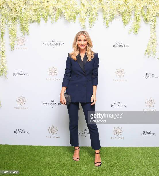 Anna Heinrich attends The Star Doncaster Mile Luncheon at The Star on April 5 2018 in Sydney Australia