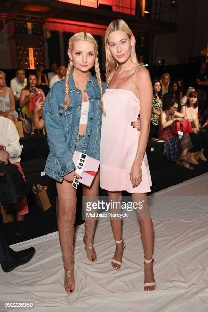 Anna Hiltrop and Mandy Bork attends the Lana Mueller show during the Berlin Fashion Week Spring/Summer 2019 at ewerk on July 5 2018 in Berlin Germany