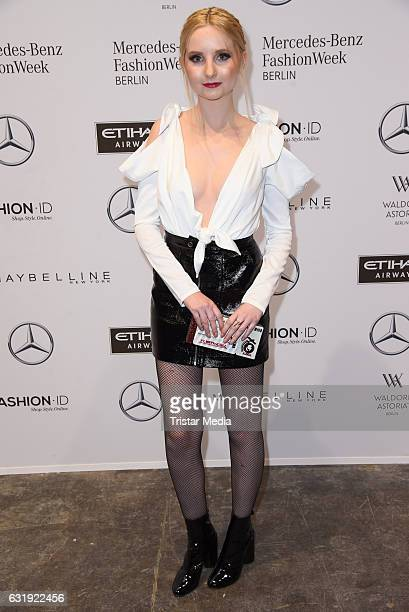 Anna Hiltrop attends the Hien Le show during the MercedesBenz Fashion Week Berlin A/W 2017 at Kaufhaus Jandorf on January 17 2017 in Berlin Germany