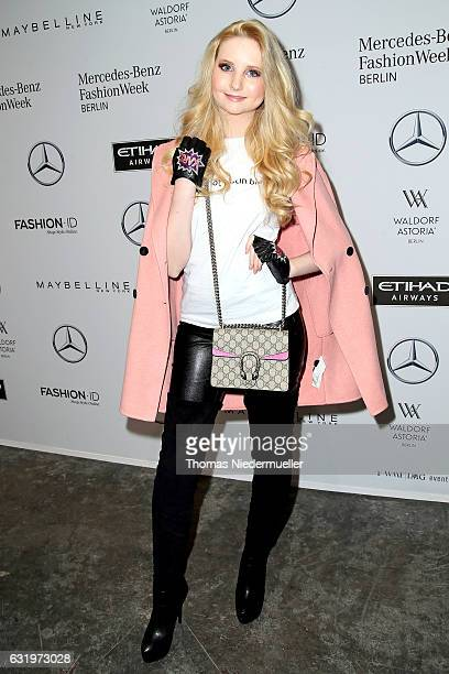 Anna Hiltrop attends the Maisonnoee show during the MercedesBenz Fashion Week Berlin A/W 2017 at Kaufhaus Jandorf on January 18 2017 in Berlin Germany