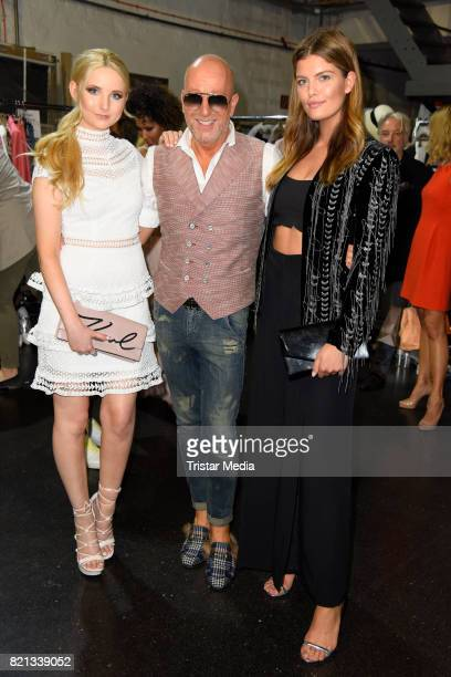Anna Hiltrop Thomas Rath and Vanessa Fuchs attend the Thomas Rath show during Platform Fashion July 2017 at Areal Boehler on July 23 2017 in...