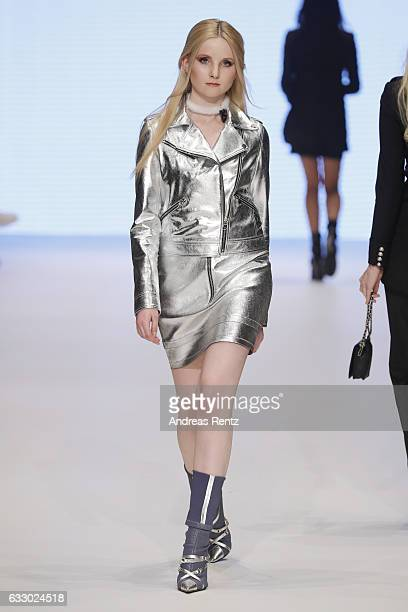 Anna Hiltrop walks the runway at the Lassal Fashionyard show during Platform Fashion January 2017 at Areal Boehler on January 29 2017 in Duesseldorf...