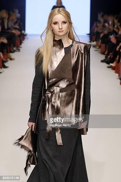 Anna Hiltrop walks the runway at the Nadja by Nadja Kiess Fashionyard show during Platform Fashion January 2017 at Areal Boehler on January 29 2017...