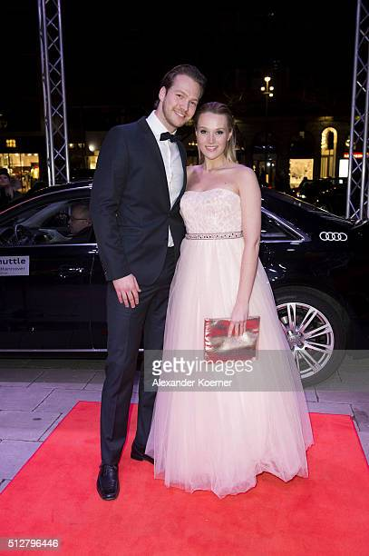 Anna Hofbauer and Marvin Albrecht attends the Hannover Opera Ball on February 27 2016 in Hanover Germany