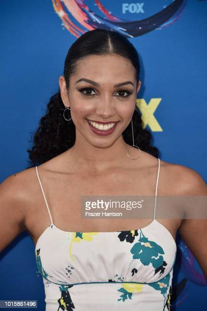 Anna Hopkins attends FOX's Teen Choice Awards at The Forum on August 12 2018 in Inglewood California