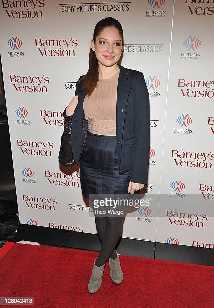 Anna Hopkins attends the New York premiere of Barney's Version at The Paris Theatre on January 10 2011 in New York City