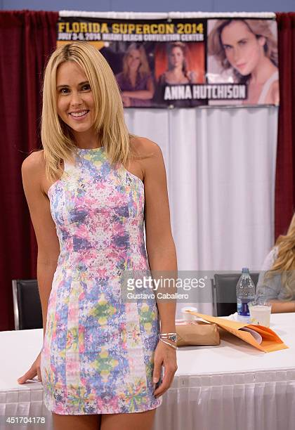 Anna Hutchison attends Florida Supercon at the Miami Beach Convention Center on July 4 2014 in Miami Beach Florida