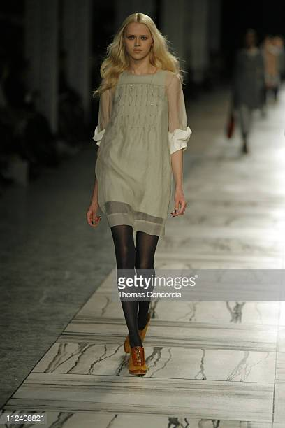 Anna I. Wearing 3.1 Phillip Lim Fall 2007 during Mercedes-Benz Fashion Week Fall 2007 - 3.1 Phillip Lim - Runway at Waterfront Building in New York...