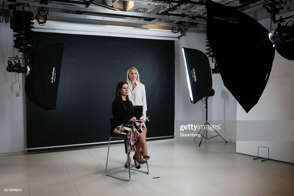 Anna Jones, former U.K. chief executive officer of Hearst Magazine Inc., right, and Debbie Wosskow, founder of Love Home Swap Ltd., left, pose for photographs in London, U.K., on Wednesday, Jan. 31, 2018. On March 8, International Women's Day, Wosskow and Jones will open Britains first members-only club specifically for businesswomen. Photographer: Simon Dawson/Bloomberg via Getty Images