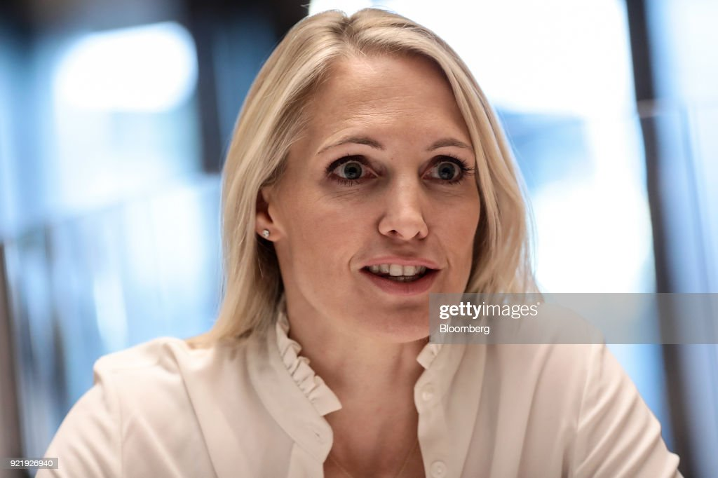 Anna Jones, former U.K. chief executive officer of Hearst Magazine Inc., speaks during an interview in London, U.K., on Wednesday, Jan. 31, 2018. On March 8, International Women's Day, serial entrepreneur Debbie Wosskow and former Jones will open Britains first members-only club specifically for businesswomen. Photographer: Simon Dawson/Bloomberg via Getty Images