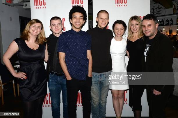 Anna Jordan Jack DiFalco Justice Smith Lucas Hedges Stefania LaVie Owen Ari Graynor and Trip Cullman attend the 'Yen' opening night after party at...