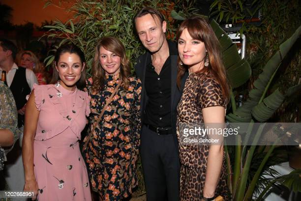 Anna Julia Antonucci former Kapfelsperger Luise Baehr Bernhard Bettermann Ina Paule Klink during the Place To B Berlinale Party Garden of Eden at...