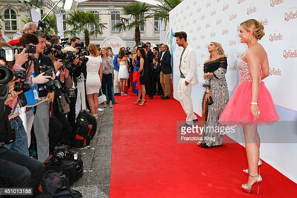 Anna Julia Hagen Sylvie Meis and Andre Borchers attend the Raffaello Summer Day 2014 on June 21 2014 in Berlin Germany