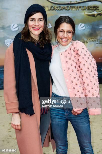 Anna Julia Kapfelsperger and Christina Hecke attend the world premiere of 'Jim Knopf und Lukas der Lokomotivfuehrer' at CineStar on March 18 2018 in...