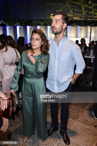 Anna Julia Kapfelsperger and guest during the Mazda Entertainment Night at Sheraton Berlin Grand Hotel Esplanade on August 31 2018 in Berlin Germany