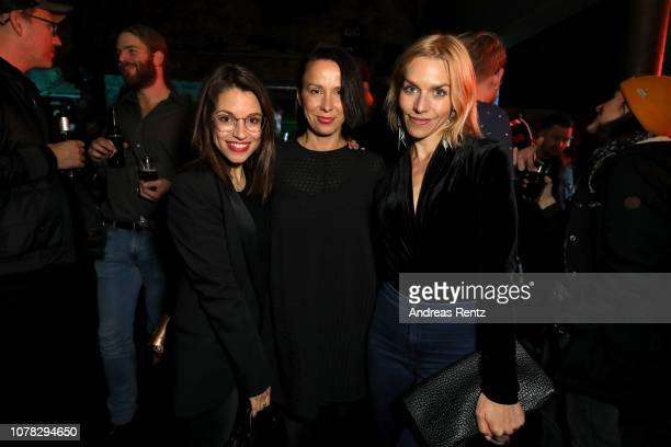Anna Julia Kapfelsperger and Julia Dietze attend the after show party at the premiere of the Netflix Original Series 'Dogs of Berlin' at Kino...