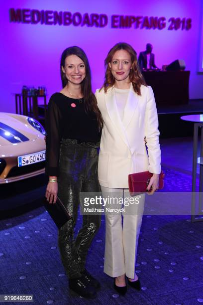 Anna Julia Kapfelsperger and Lavinia Wilson attend the Medienboard BerlinBrandenburg Reception during the 68th Berlinale International Film Festival...