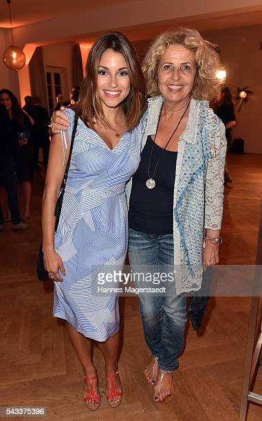 Anna Julia Kapfelsperger and Michaela May attend the UFA Fiction Reception during the Munich Film Festival 2016 at Cafe Reitschule on June 27 2016 in...
