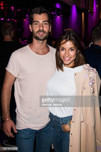 Anna Julia Kapfelsperger and Valerio Antonucci attend the premiere of the film 'Klassentreffen 10 Die unglaubliche Reise der Silberruecken' at...