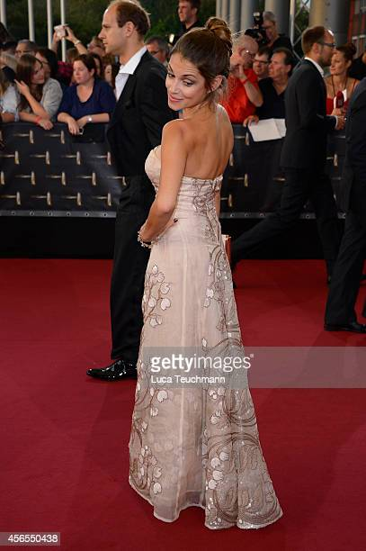 Anna Julia Kapfelsperger attend the red carpet of the Deutscher Fernsehpreis 2014 at Coloneum on October 2 2014 in Cologne Germany