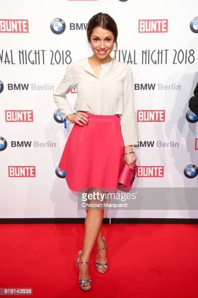 Anna Julia Kapfelsperger attends the BUNTE BMW Festival Night on the occasion of the 68th Berlinale International Film Festival Berlin at Restaurant...