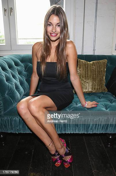 Anna Julia Kapfelsperger attends the DKMS LIFE Charity Ladies lunch at Soho House on August 8 2013 in Berlin Germany