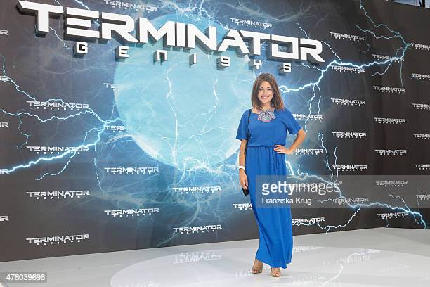 Anna Julia Kapfelsperger attends the European Premiere of 'Terminator Genisys' at the CineStar Sony Center on June 21 2015 in Berlin Germany