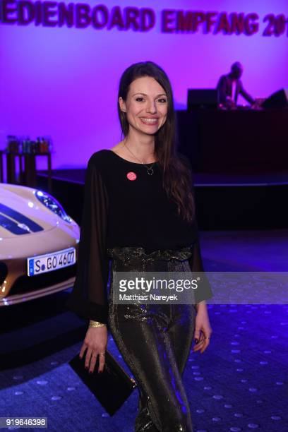 Anna Julia Kapfelsperger attends the Medienboard BerlinBrandenburg Reception during the 68th Berlinale International Film Festival Berlin at on...