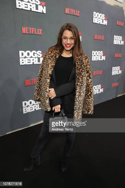 Anna Julia Kapfelsperger attends the premiere of the Netflix Original Series 'Dogs of Berlin' at Kino International on December 06 2018 in Berlin...