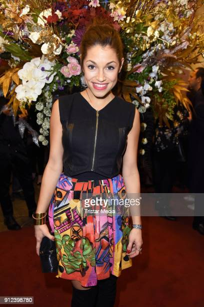 Anna Julia Kapfelsperger during the Gianni Versace Retrospective opening event at Kronprinzenpalais on January 30 2018 in Berlin Germany The...