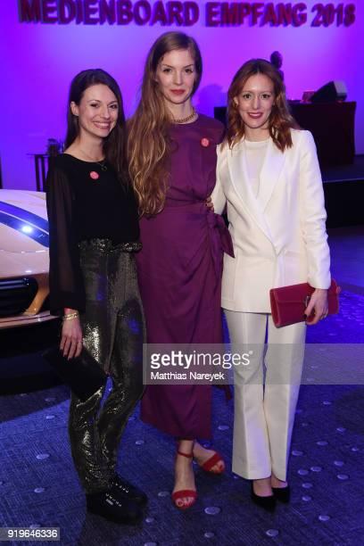 Anna Julia Kapfelsperger Pheline Roggan and Lavinia Wilson attend the Medienboard BerlinBrandenburg Reception during the 68th Berlinale International...