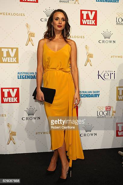 Anna Jullienne arrives at the 58th Annual Logie Awards at Crown Palladium on May 8 2016 in Melbourne Australia