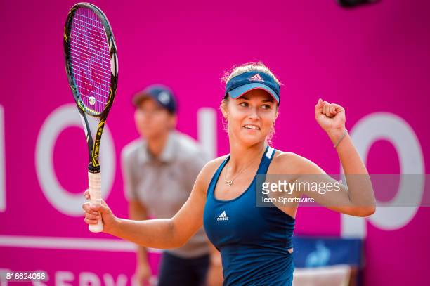 Anna Kalinskaya during the WTA Ladies Championship Gstaad at Roy Emerson Arena in Gstaad Switzerland