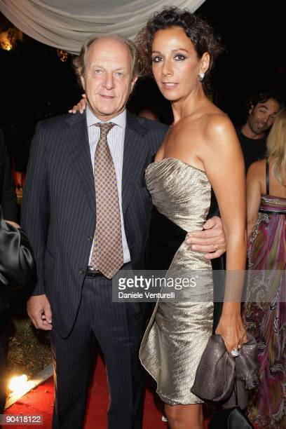 Anna Kanakis and guest attend the Diva E Donna Magazine Party at the Casino during the 66th Venice Film Festival on September 6, 2009 in Venice,...