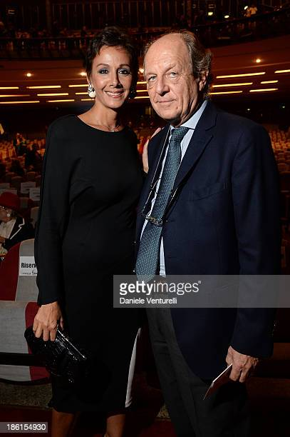 "Anna Kanakis and Marco Merati Foschini attend ""Vorrei... 2013"" Charity Event To Support Fondazione FFC at Teatro Sistina on October 28, 2013 in Rome,..."