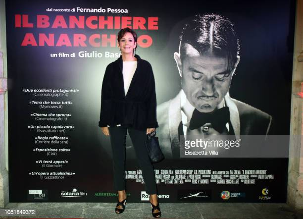 Anna Kanakis attends Premiere Il Banchiere Anarchico by Giulio Base at Cinema Quirinetta on October 10 2018 in Rome Italy