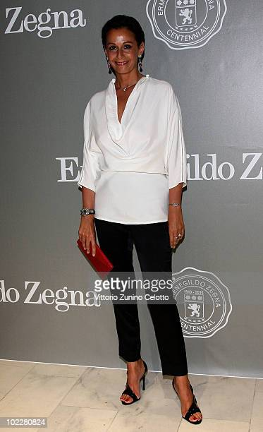 "Anna Kanakis attends the ""Cento Anni Di Eccellenza"" Exhibition Launch party during Milan Fashion Week Menswear Spring/Summer 2011 on June 21, 2010 in..."