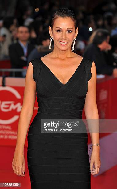 "Anna Kanakis attends the ""La dolce vita"" world restoration premiere during The 5th International Rome Film Festival at Auditorium Parco Della Musica..."