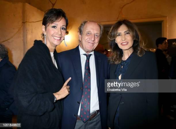 Anna Kanakis Marco Merati Foscarini and Maria Pia Ruspoli attend Premiere Il Banchiere Anarchico by Giulio Base at Cinema Quirinetta on October 10...