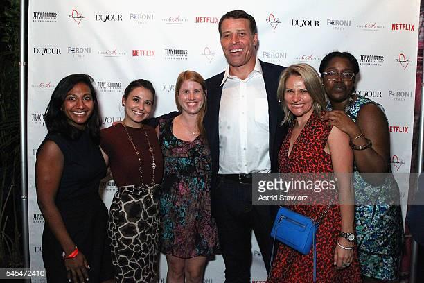 Anna Kantha Ariana Tatum Brittany Lane Tony Robbins Jennifer Porto and Shari Ajay attend a cocktail party celebrating director Joe Berlinger's Tony...