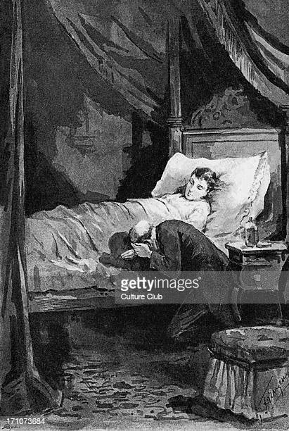 Anna Karenina Anna Karenina by Lev Nikolayevich Tolstoy Illustrations by Paul Frenzeny Caption reads 'Karenina in Anna's chamber during her illness'...