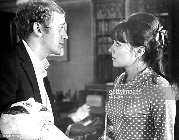 Anna Karina and Nicol Williamson looking at one an other with concern in a scene from the film 'Laughter in the Dark' 1969