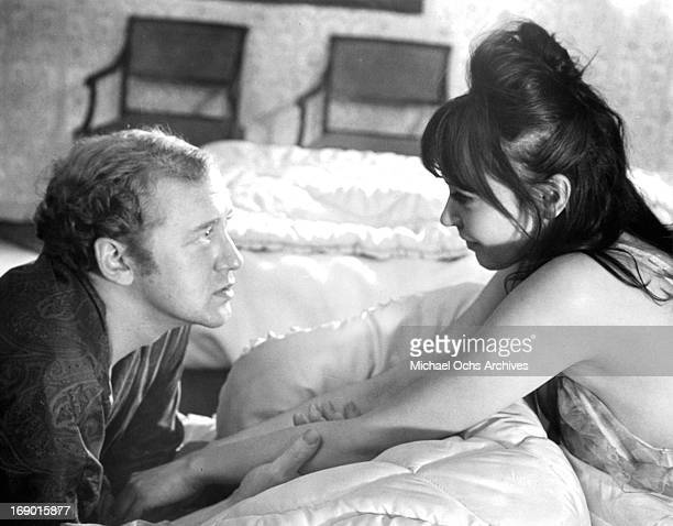 Anna Karina and Nicol Williamson looking at one an other with love in a scene from the film 'Laughter in the Dark' 1969