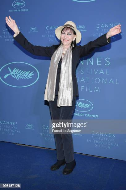 Anna Karina arrives at the Gala dinner during the 71st annual Cannes Film Festival at Palais des Festivals on May 8 2018 in Cannes France