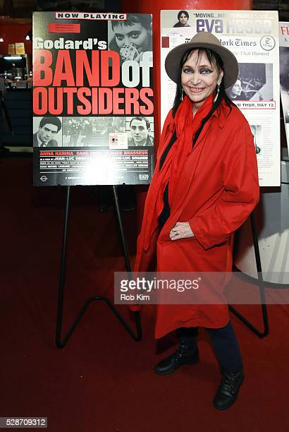 Anna Karina attends the New York screening of 'Band Of Outsiders' at Film Forum on May 6 2016 in New York City