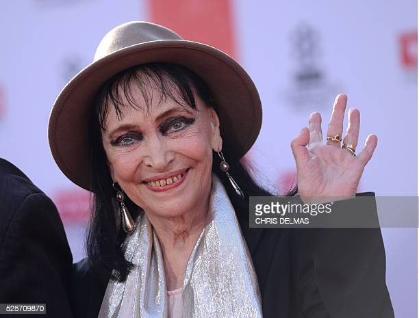 """Anna Karina attends the Opening Night Gala of the 2016 TCM Classic Film Festival celebrating The 40th Anniversary Screening of """"All the President's..."""