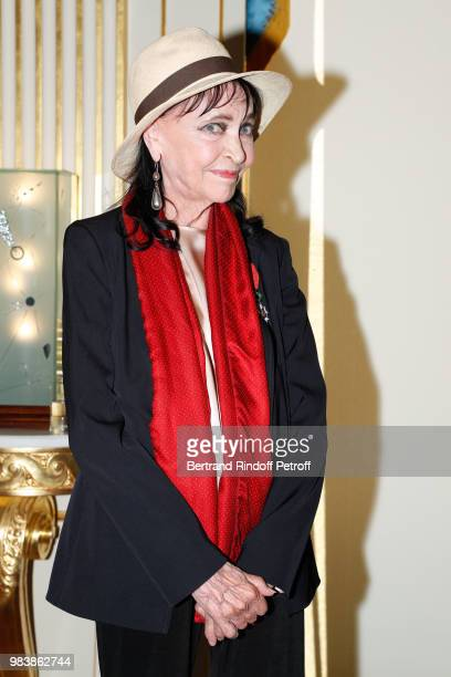 Anna Karina decorated 'Chevalier de la Legion d'Honneur' attends Decorations are given at 'Ministere de La Culture' on June 25 2018 in Paris France