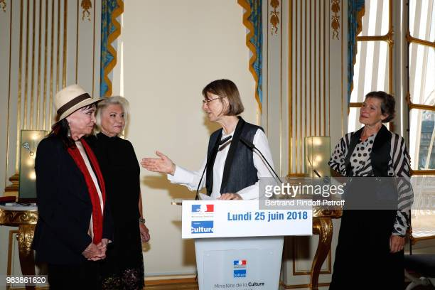 Anna Karina decorated 'Chevalier de la Legion d'Honneur' Elisabeth Dauchy decorated 'Officier des Arts et des Lettres' French Minister of Culture...