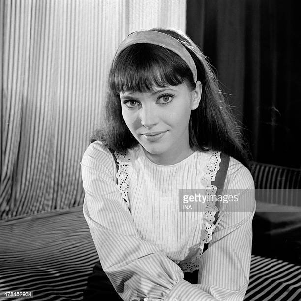 Anna Karina during an interview for the ''program'' '''' ''Cinepanorama'' ''''