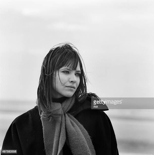 Anna Karina on the shooting of the television film 'Anna' realized by Pierre Koralnik